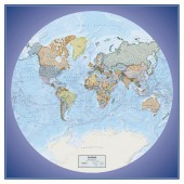 Global View Series World Political Wall Map