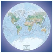 Global View Series World Physical Wall Map