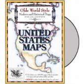 Old Worlde Style Maps: United States Maps CD