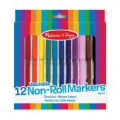 12 Non-Roll Marker Set - Melissa and Doug