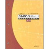 Saxon Math 76 Tests and Worksheets (4th Edition)