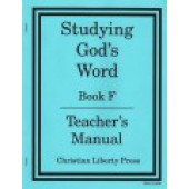 Studying God's Word Teacher's Manual Book F