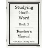 Studying God's Word Teacher's Manual Book G
