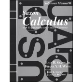 Saxon Calculus Solutions Manual (2nd Edition)