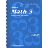 Saxon Math 3 Homeschool Teacher's Manual