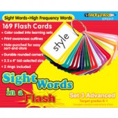 Sight Words in a Flash™ Color-coded Flash Cards, Grades 2–3, Set 3 Advanced