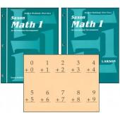 Saxon Math 1 Student Workbook & Fact Cards