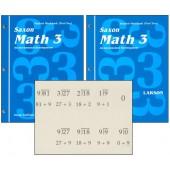 Saxon Math 3 Student Workbook & Fact Cards