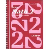Saxon Math 2 Home Study Teacher's Manual