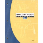 Saxon Math 54 Tests and Worksheets (3rd Edition)