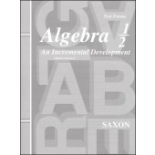 Saxon Algebra 1/2 Tests (3rd Edition)