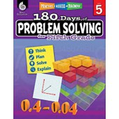 180 Days of Problem Solving for Fifth Grade - Teacher Created Materials