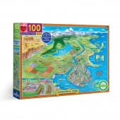 Geographical Terms 100 Piece Puzzle - eeBoo