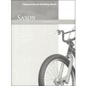 Saxon Math 3 Intermediate Test Book