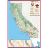 Hemispheres California Wall Map