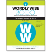 Wordly Wise 3000® 4th Edition Teacher's Resource Book 6
