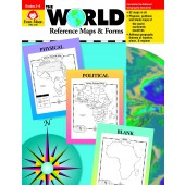 The World Reference & Map Forms (World & Us Maps)   Evan-Moor