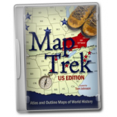 Map Trek:  U.S. Edition Atlas and Outline Maps of World History CD ROM
